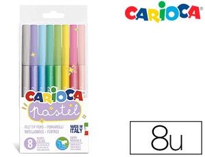 Rotulador Carioca Pastel Blister de 8 Colores Surtidos