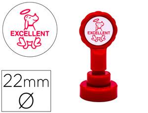 Sello Artline Emoticono Excelente Color Rojo 22 mm Diametro