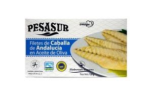 Filetes de caballa de Andalucia en aceite Pesasur