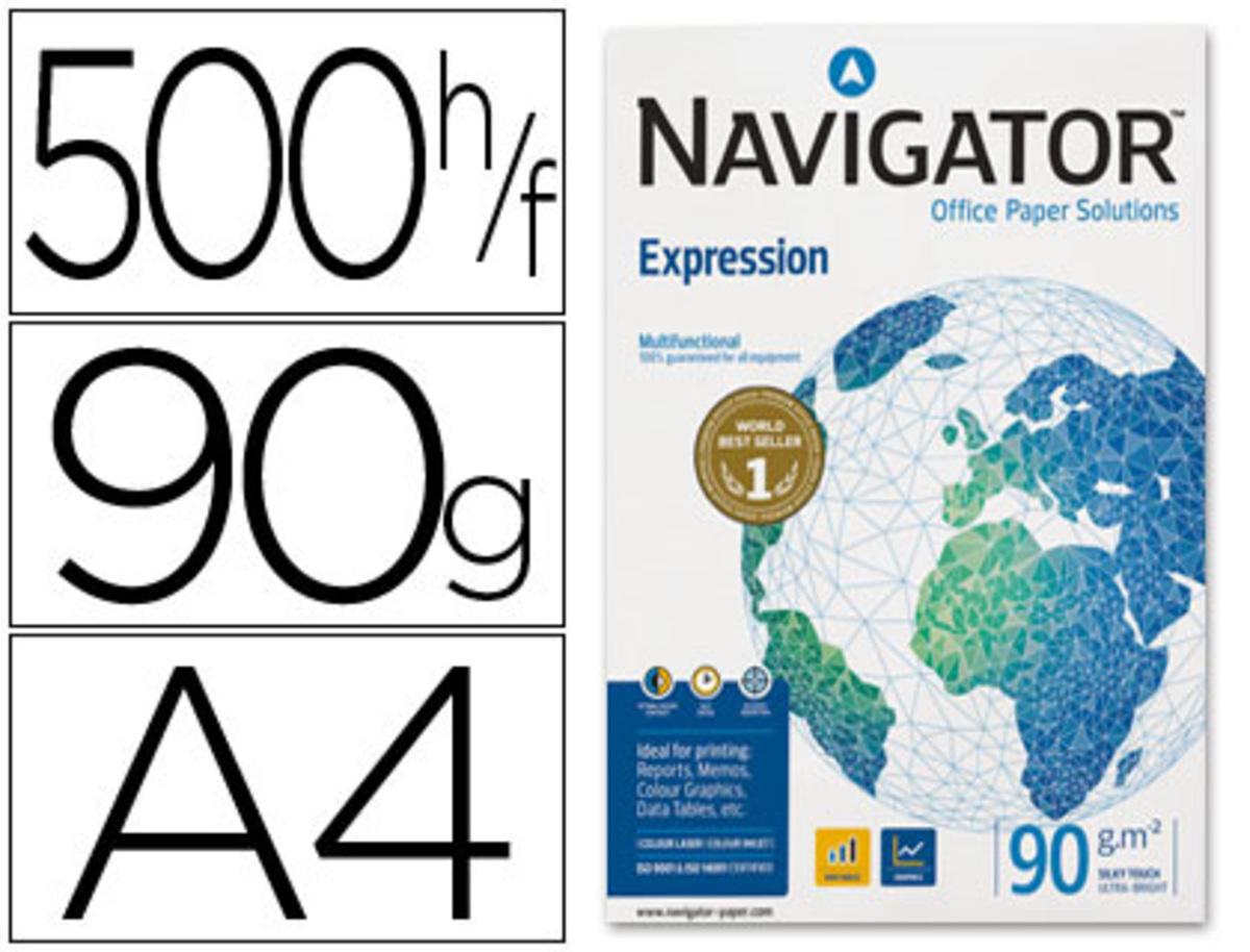 Papel Fotocopiadora Navigator Din A4 90 Gramos Paquete de 500 Hojas