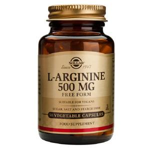 L- Arginina 500 Mg Solgar 50 Cápsulas Vegetales