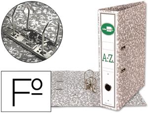 Archivador De Palanca Liderpapel Folio Classic Grey Carton Entrecolado Con Rado Lomo 75Mm Gris Compresor Metalic