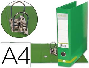 Archivador De Palanca Liderpapel A4 Color System Forrado Sin Rado Lomo 80Mm Verde Compresor Metalico