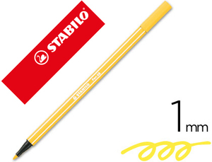 Rotulador Stabilo Acuarelable Pen 68 Amarillo 1 Mm