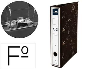 Archivador De Palanca Liderpapel Folio Classic Carton Entrecolado Con Rado Lomo 52Mm Negro Compresor Metalico