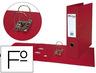 Archivador De Palanca Pardo Folio Plastico 2 Anillas De 70 Mm Color Rojo