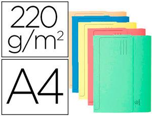 Subcarpeta Cartulina Con Bolsa Exacompta Din A4 Colores Surtidos 210 Gr