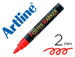 Rotulador Artline Poster Marker Epp-4-Roj Punta Redonda 2 Mm Color Rojo
