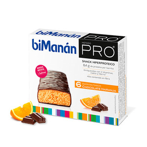 Bimanan Pro Barrita Chocolate Naranja Dieta Hiperproteica