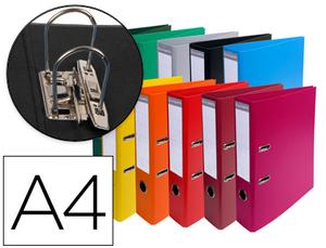 Pack de 10: Archivador De Palanca Exacompta Carton Forrado Pvc Din A4 Colores Surtidos Lomo 70 Mm Con Compresor