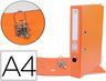Archivador De Palanca Liderpapel A4 Documenta Forrado Pvc Con Rado Lomo 75Mmnaranja Compresor Metalico