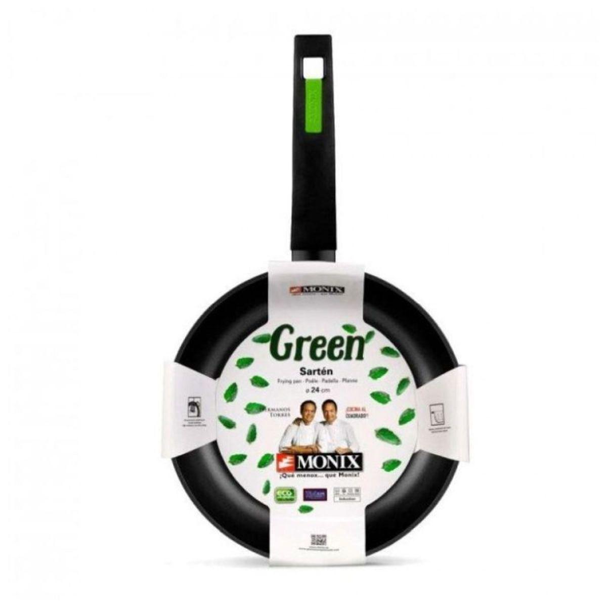 Lote 2 sartenes 20 y 24 cm + 1 Monix Green Protect