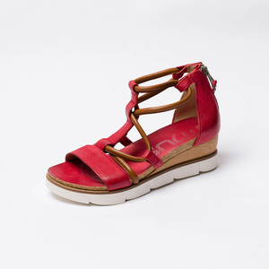Sandalia con Plataforma Roja