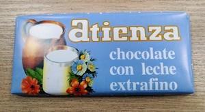 Chocolate con leche extrafino Atienza