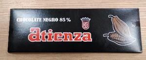 Chocolate negro 85% 500grs Atienza
