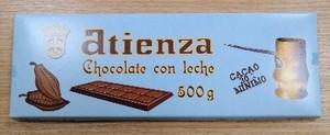 Chocolate con leche 500grs Atienza