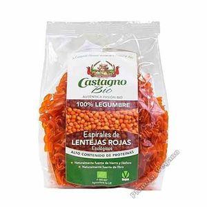 Espirales 100% Harina de lenteja roja Castagno
