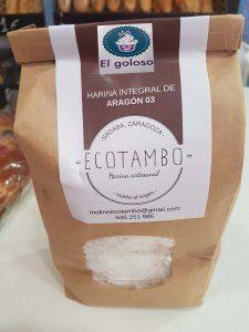 Harina integral de trigo Aragón 03 1Kg - Ecotambo