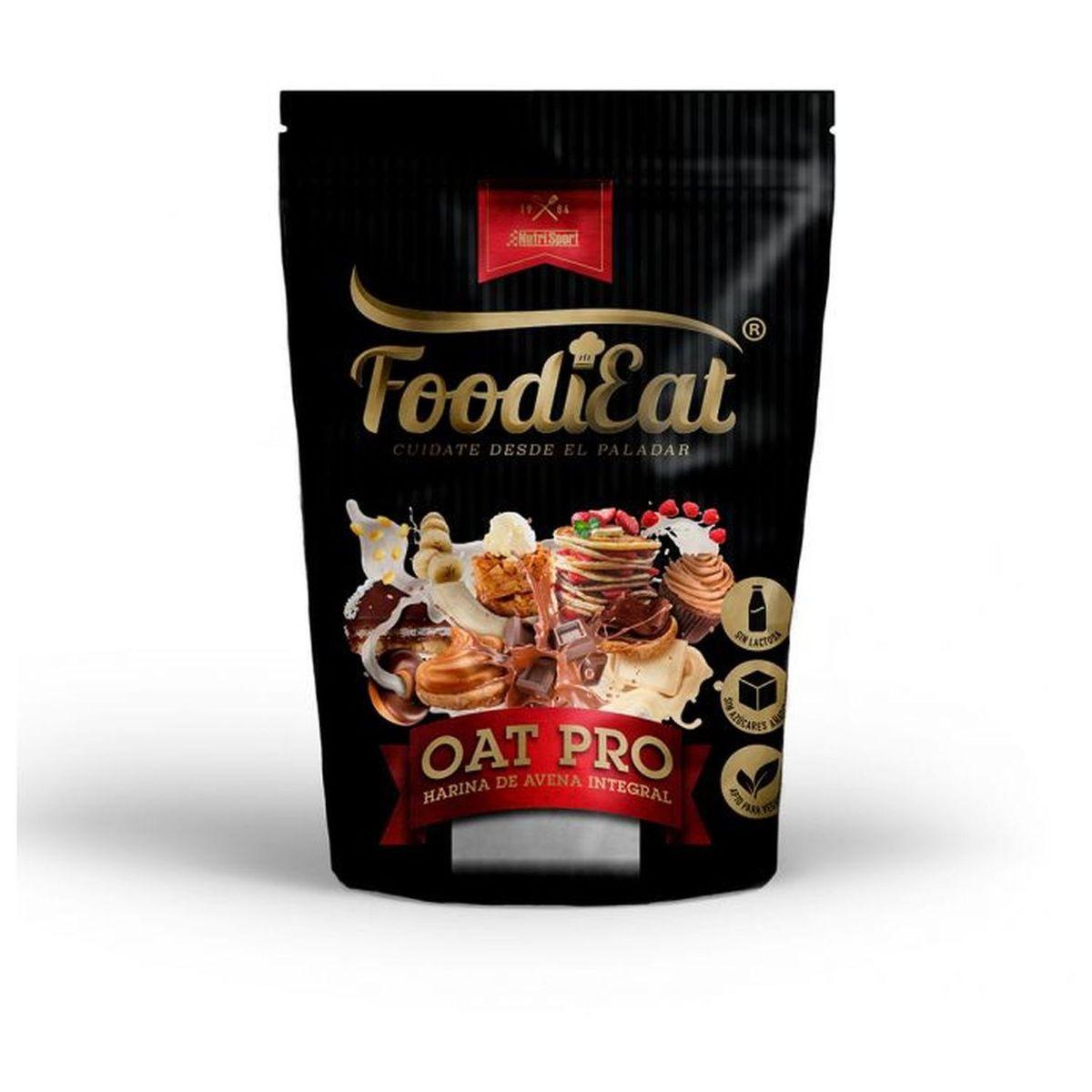 FoodiEat - OATPRO Harina de Avena Integral -  Vainilla Cookies - 1,5kg