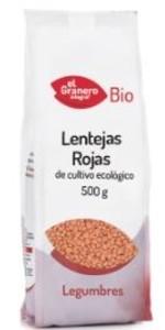 LENTEJA ROJA 500GR (EL GRANERO)