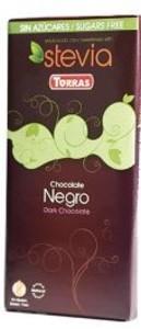 CHOCOLATE NEGRO STEVIA TABLETA 100GR (Torras)