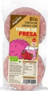 TORTITAS ARROZ CON YOGURT FRESA (Vegalife)