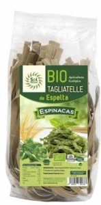 TAGLIATELLE ESPELTA ESPINACAS 250GR (Sol Natural)