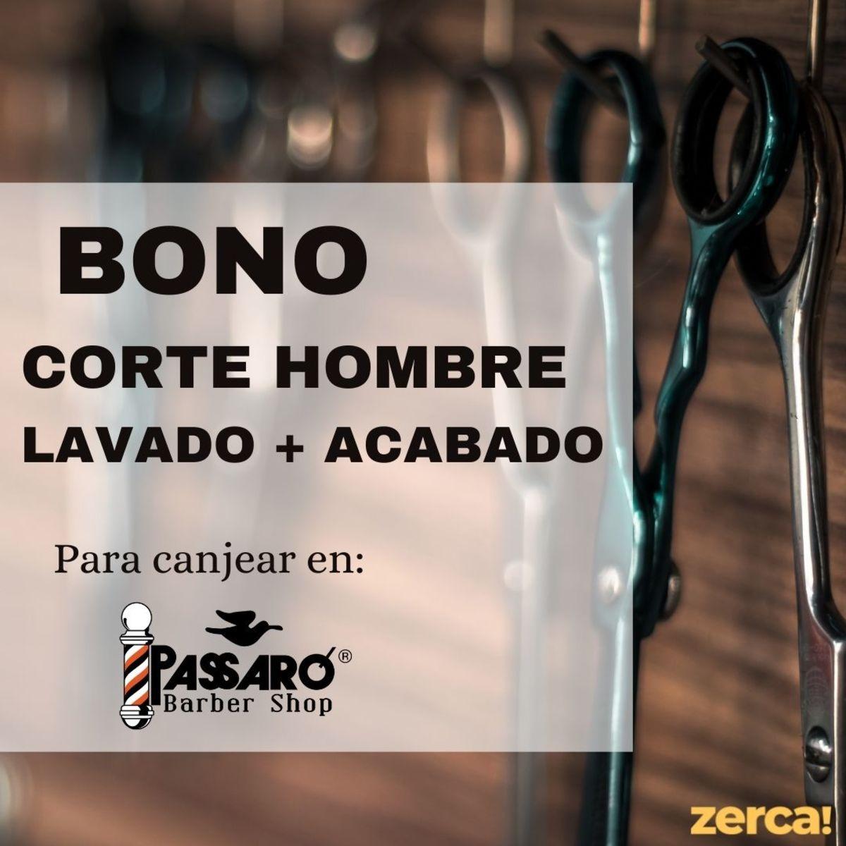 Bono corte hombre PARA CANJEAR EN PASSARÓ PLAZA SAN BRIZ