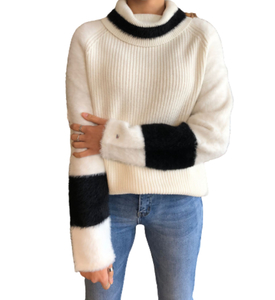 Jersey blanco y negro mujer Tommy Hilfiguer
