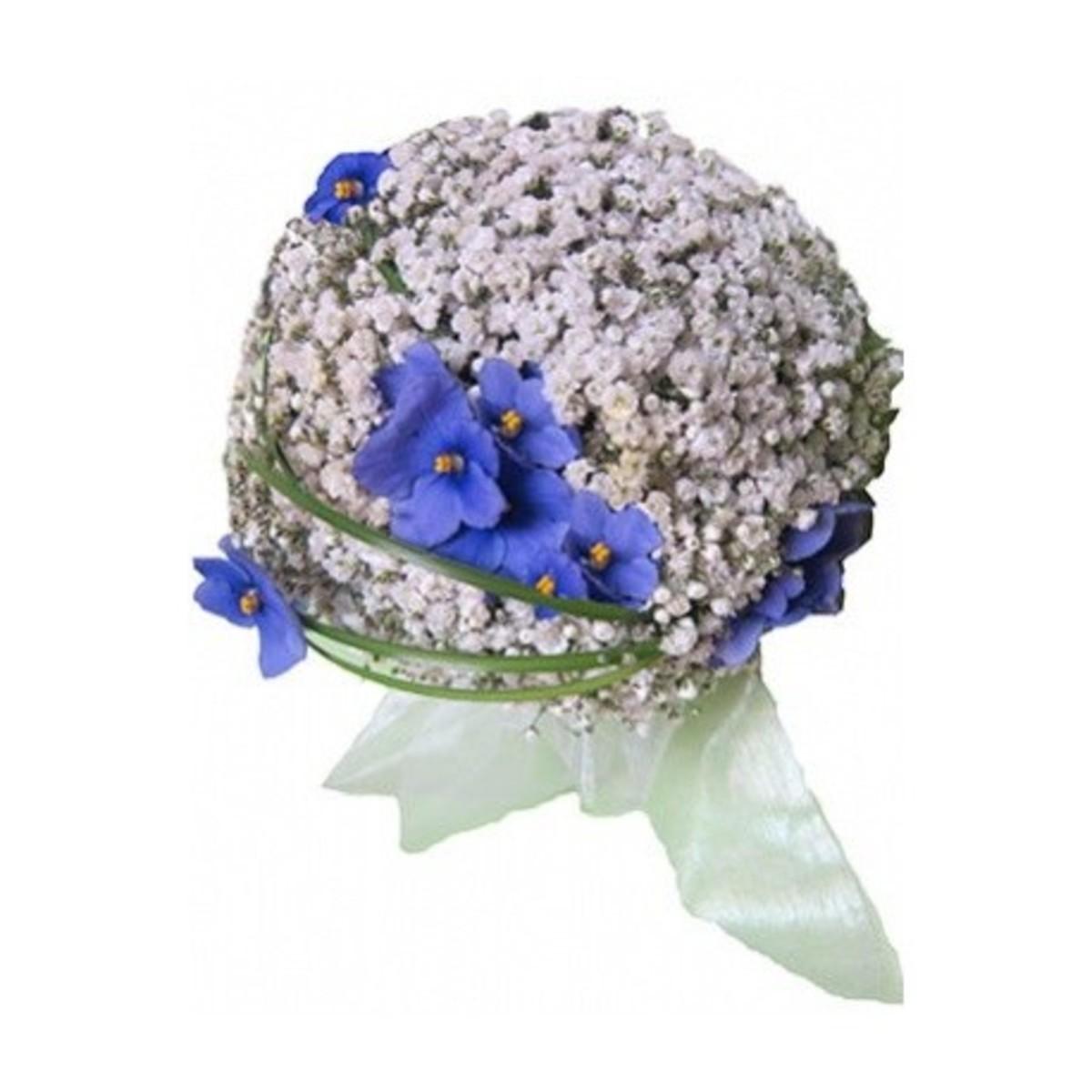Violeta Novia blanco y azul