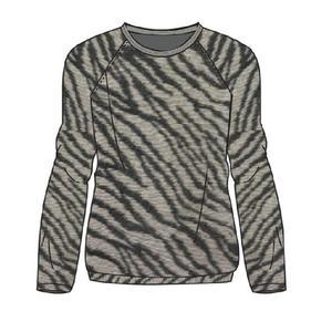 Jersey leopardo gris