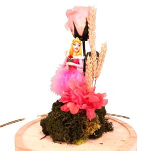 Cúpula rosa rosa con princesa - La Bella Durmiente