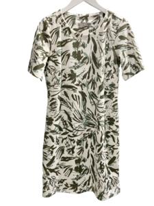 Vestido estampado de hojas
