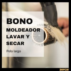 Servicio moldeador y secado, pelo largo
