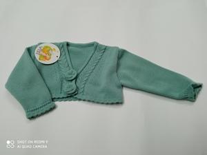 Chaqueta vestir niña verde agua