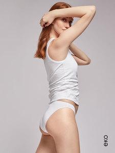 Braga blanca básica de algodón orgánico de Gisela