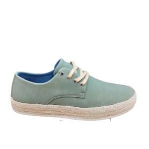 Zapato de lona verde