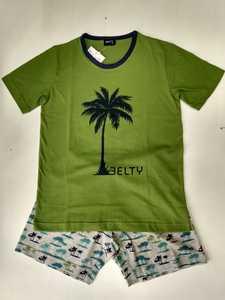 Pijama Corto Niño Palmeras