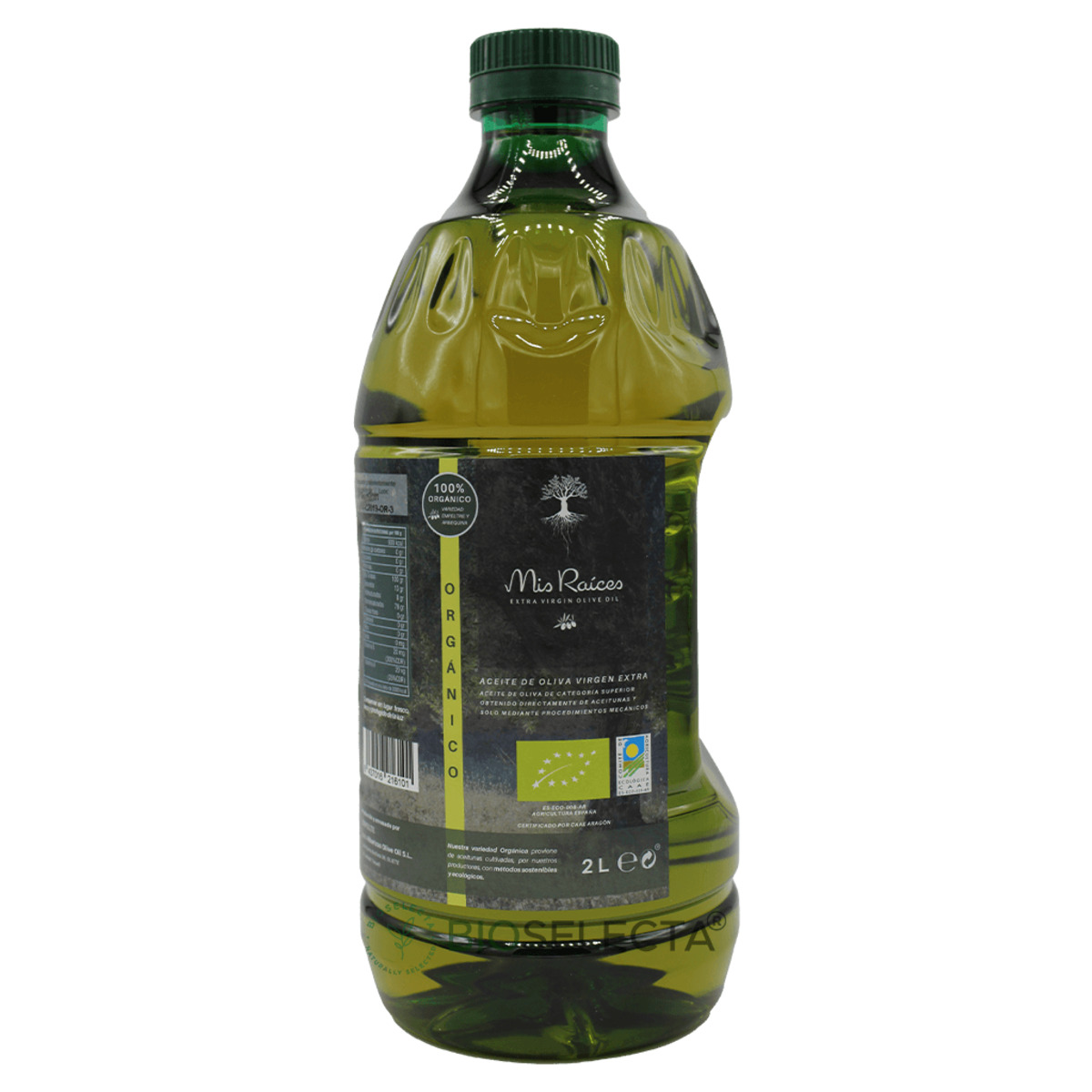 Aceite de oliva virgen extra. Mis raíces organic 2l pet. Bio. (Oliete. Teruel)
