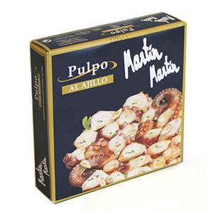 Tacos de pulpo al ajillo Martín