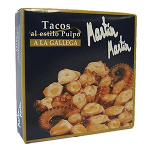 Tacos de pulpo a la gallega Martín