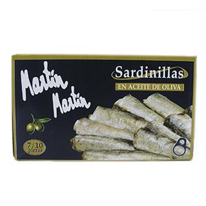 Sardinillas en aceite de oliva Martín