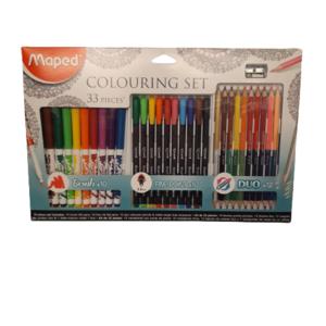 Set de rotuladores y lápices.