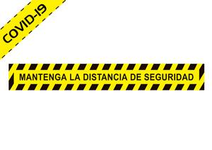"Vinilo adhesivo para suelo ""MANTENGA DISTANCIA SEGURIDAD"" COVID-19"