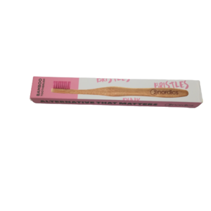 Nordics - Cepillo bambú Rosa - Adulto