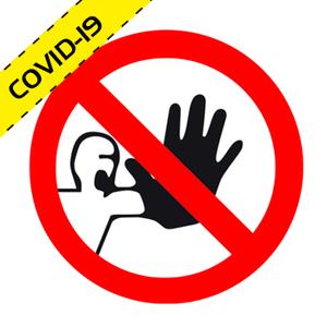 """Adhesivo seguridad suelo """"PROHIBIDO EL PASO"""" COVID-19"""