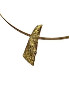 Colgante alargado oro y diamante
