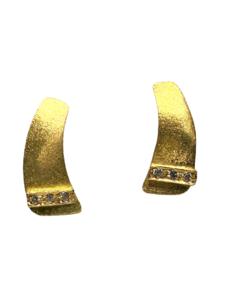 Pendientes de oro y brillantitos