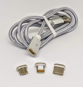 Cable universal magnético con triple clavija Dexler