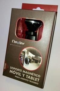Soporte magnético 360º de asientos traseros para móvil y tablet Dexler